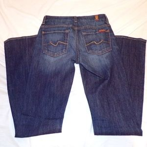 7 FOR ALL MANKIND KIMMIE BOOT CUT WOMEN'S JEANS 24